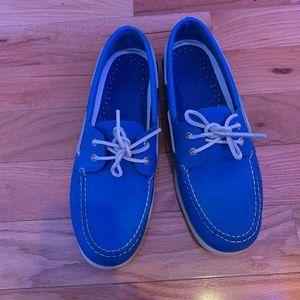 Men's Size 12 Royal Blue Sperry Boat Shoes